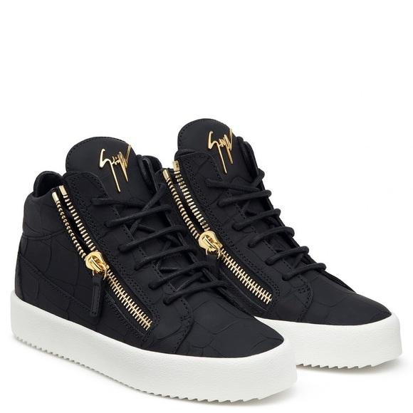 cb4de986dbeab Giuseppe Zanotti Shoes - Giuseppe Zanotti black python high tops